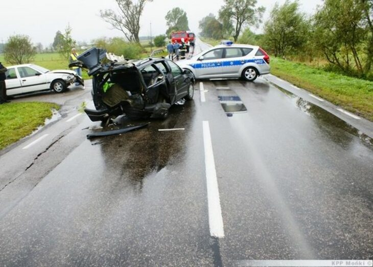 Wypadek na krajowej 65