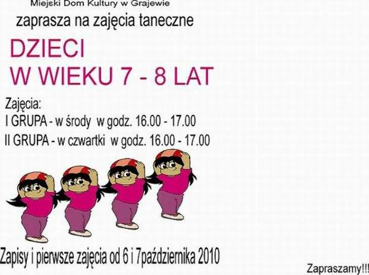 Zajęcia taneczne dla dzieci 7-8l