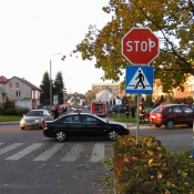 3. znak STOP - na skrzyżowaniu ulic Koszarowej z Krasickiego