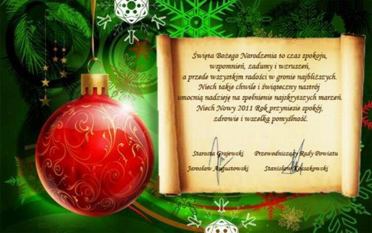 Życzenia na Święta i Nowy Rok