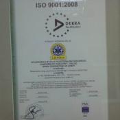 1. certyfikat ISO dla Państwowego Ratownictwa Medycznego z Pogotowia w Grajewie