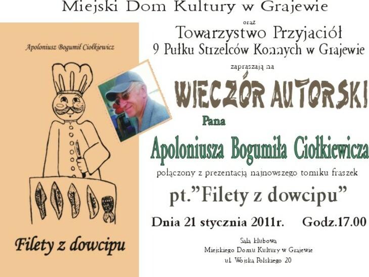 Wieczór autorski A. Ciołkiewicza