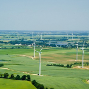 4. Farma wiatrowa koło Kisielic o mocy ponad 40 MW, woj. warmińsko-mazurskie