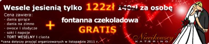 Wesele jesienią tylko 122 zł