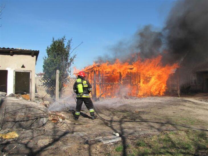 Pożar w środku miasta