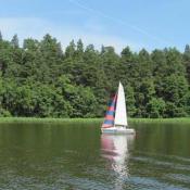 7. Jezioro Necko w Augustowie widok z rejsu statkiem. Kasia