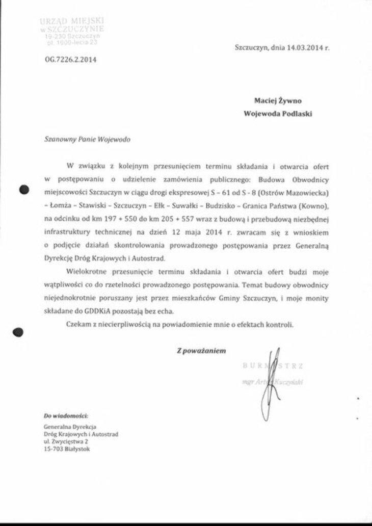 Obwodnica Szczuczyna cd ...