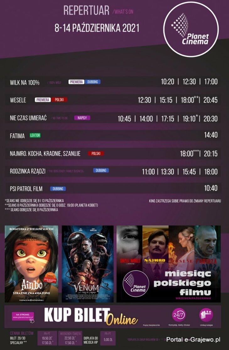 Planet Cinema Ełk - repertuar (8-14.10)