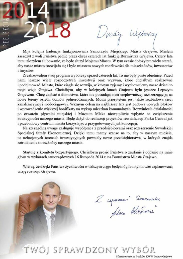A. Kiełczewski - Drodzy Wyborcy