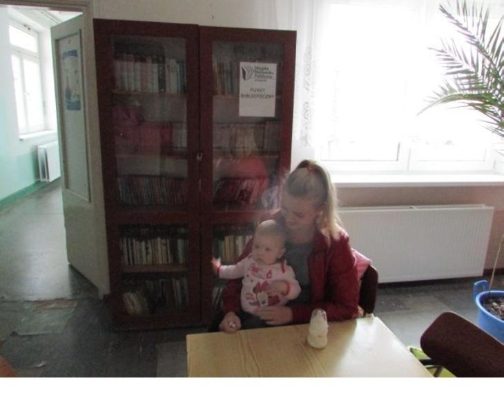 Kącik biblioteczny w szpitalu