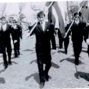 1. 5. 1 V 1965. Moja klasa XIb. Na czele od lewej J. Mocarski, W. Wisniewski, K. Zabiegliński