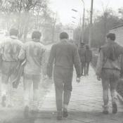 3. 3. Powrót do szatni po meczu AZS AWF - Czarni Bytom 24- 0, 1969