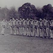6. 6. Mistrz Polski AZS AWF W-wa 1970, mecz z Poznanią Poznań, stoi 7 od. l. W. Michalak