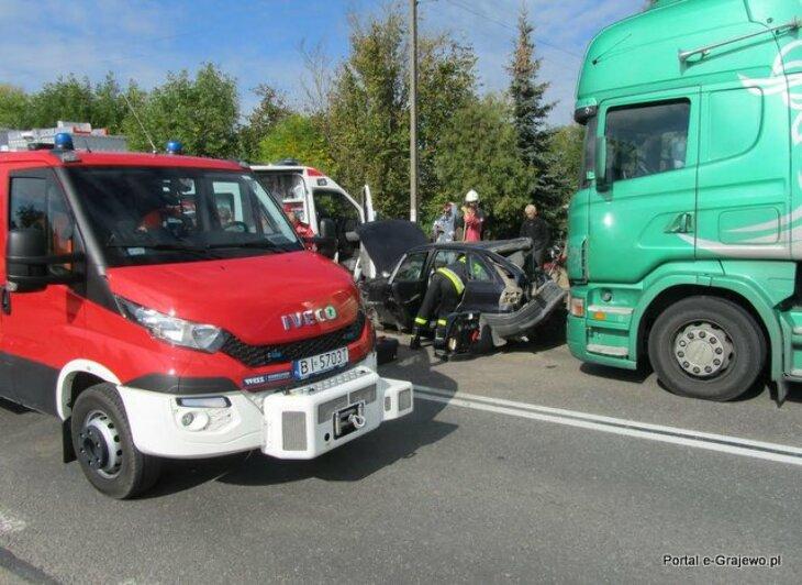 Wypadek drogowy na DK61