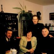 13. 15. W domu Autora, od l. Czesław Roszkowski, Wanda Czajkowska, Zbigniew Graca, Walenty Michalak