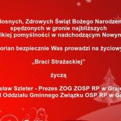10. S. Szleter Prezes ZOG ZOSP; Zarząd Oddziału Gminnego Związku OSP RP w Grajewie