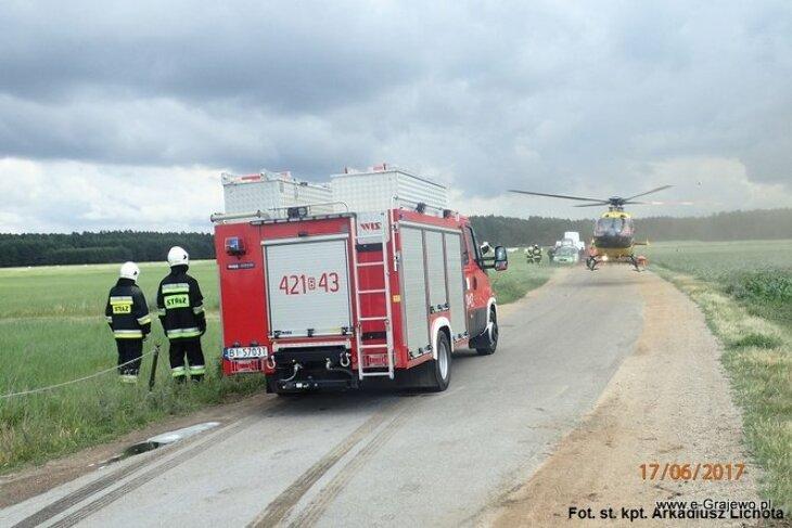 Opel i fiat stanęły w płomieniach
