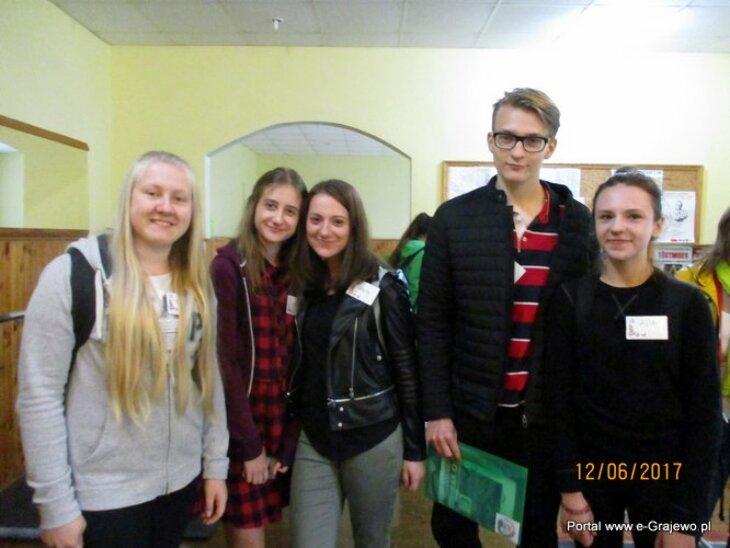 Uczniowie LO na Łotwie