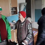 59. Morsy z Grajewa wzięły udział w Wigilii w Klubie Seniora, później odwiedziły podopiecznych w Ich domach z potrawami wigilijnymi