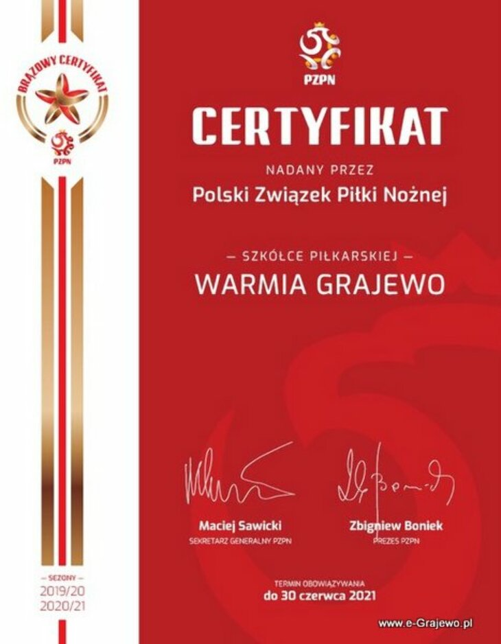 Warmia z Gwiazdką PZPN