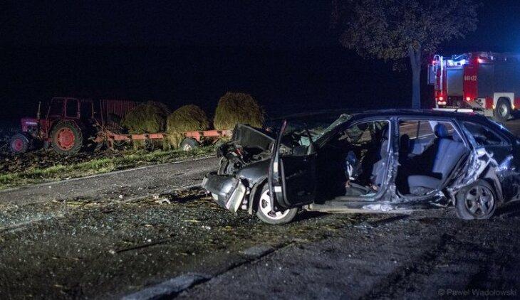 Śmiertelny wypadek na DK63