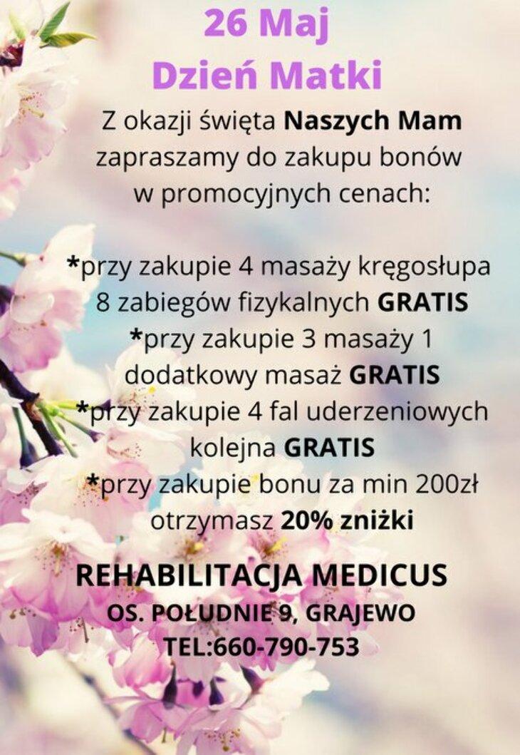 Medicus: bon na Dzień Matki