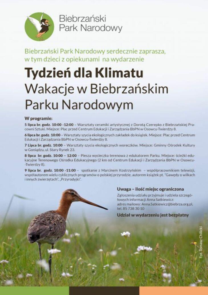 Tydzień dla Klimatu - Wakacje w Biebrzańskim Parku Narodowym