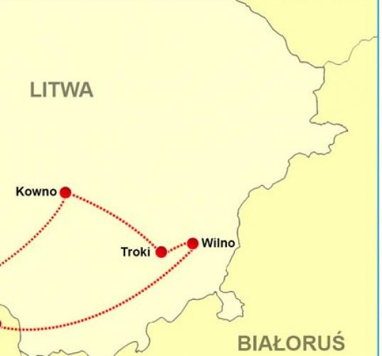 Szczuczyn: Pielgrzymka  Kowno - Troki - Wilno (7-8.08)