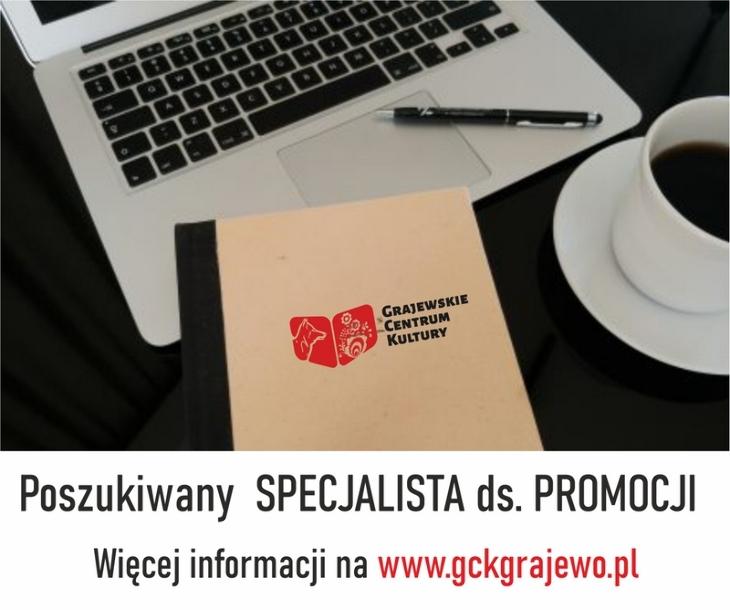 Dyrektor Grajewskiego Centrum Kultury ogłasza nabór na stanowisko pracy