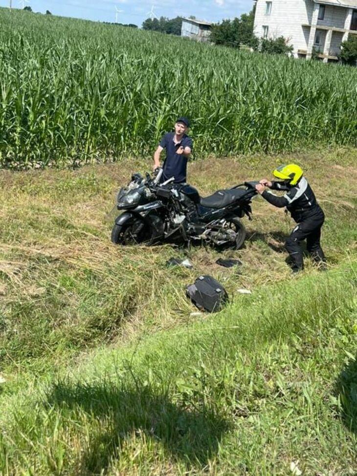Poszukiwani świadkowie potrącenia motocyklisty (11.07)