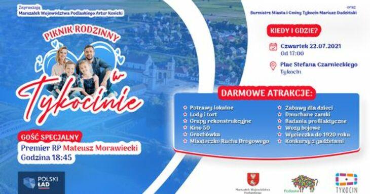 Premier Morawiecki z krótką wizytą w Grajewie