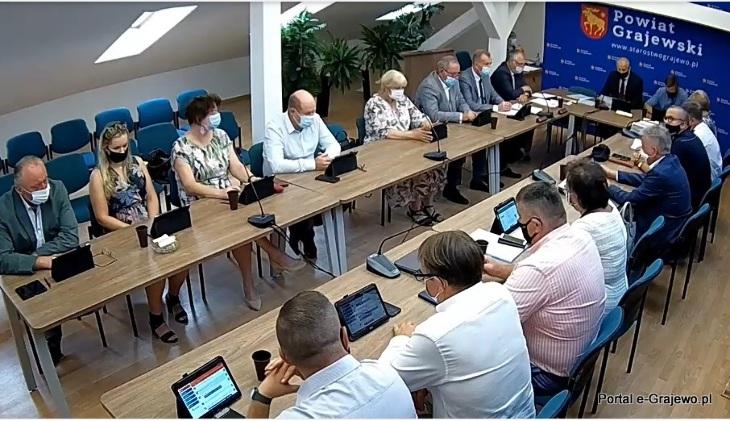 XLV sesja Rady Powiatu Grajewskiego z dnia 26 lipca 2021