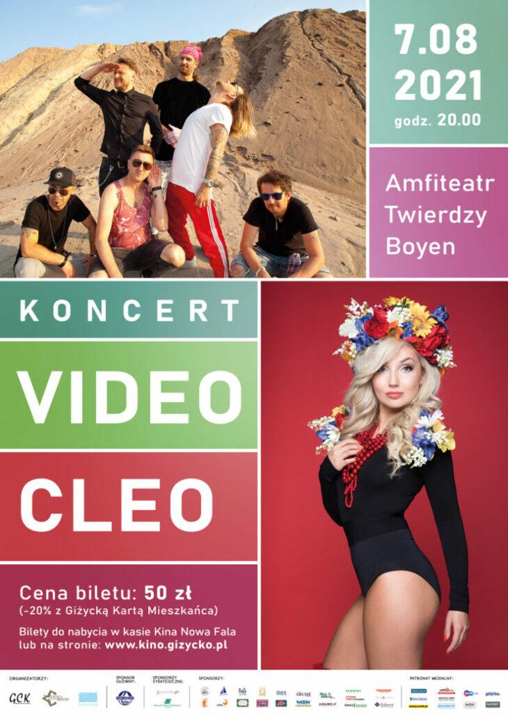 Giżycko -  Koncert zespołu Video oraz Cleo (7.08.2021)
