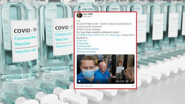 Atak na punkt szczepień w Grodzisku Mazowieckim
