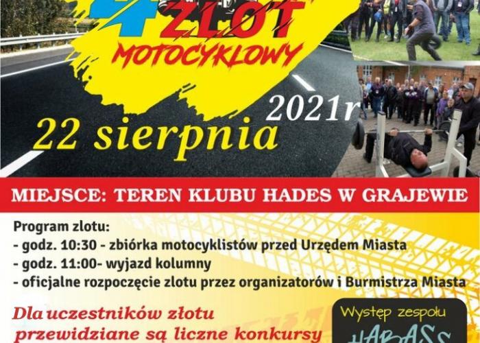 Zapraszamy na  IV Grajewski Zlot Motocyklowy 22.08.2021