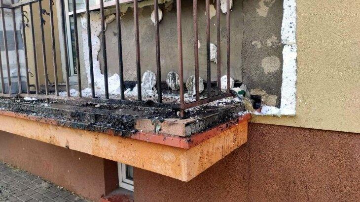 Policjanci ugasili pożar w Szczuczynie