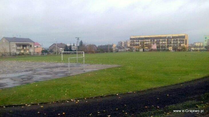 Budowa boiska lekkoatletycznego przy szkole Podstawowej Nr 4 w Grajewie