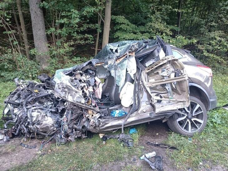 Tragiczny wypadek na trasie Białystok - Augustów