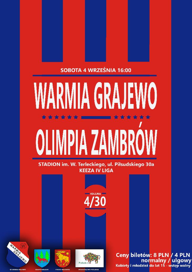 WARMIA - OLIMPIA (sobota 16:00)