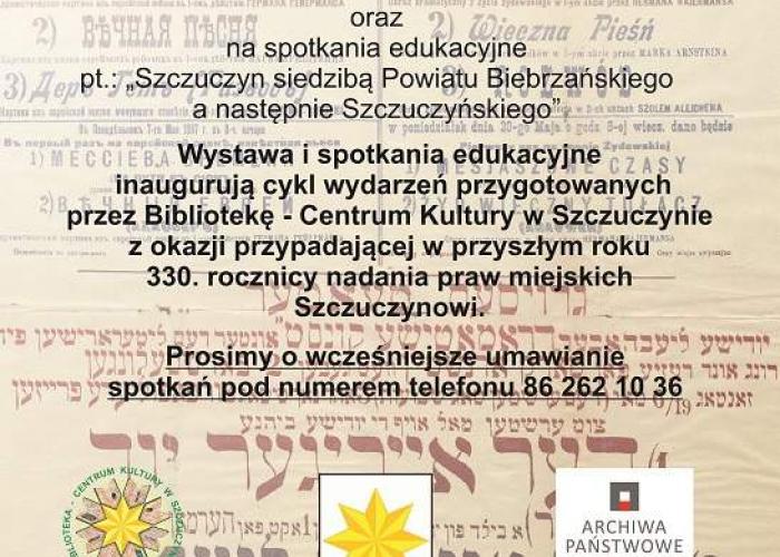 Szczuczyn: Wystawa i spotkania edukacyjne - zaproszenie!