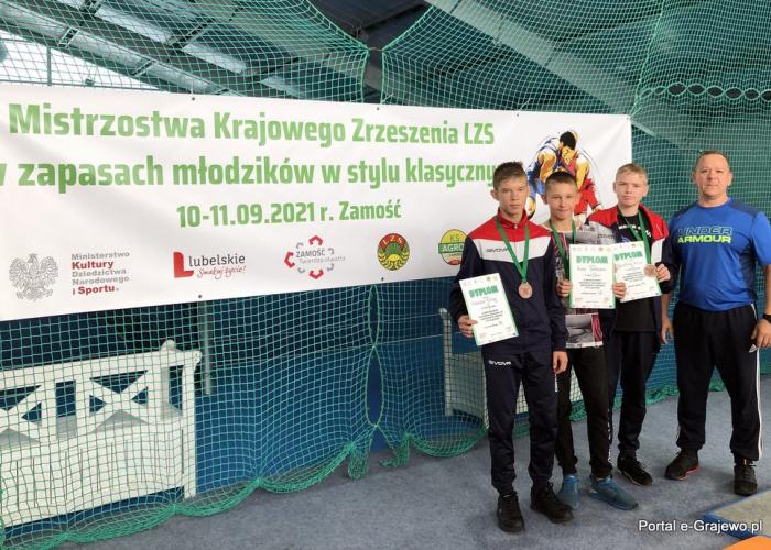 Sekcja zapaśnicza MOSiR Grajewo z 3 medalami!