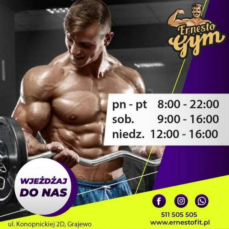 Ernesto Gym & Fitness - wjeżdżaj do nas!