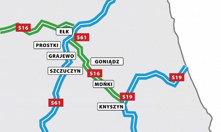 Wsparcie wariantu drogi S16 na odcinku Ełk - Białystok
