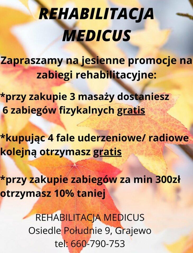 Rehabilitacja Medicus: jesienne promocje