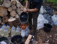 Zlikwidowana leśna bimbrownia