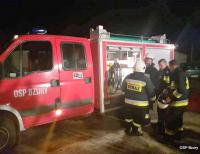 Pożar sadzy w Bzurach, mieszkańcy bezpiecznie opuścili budynek