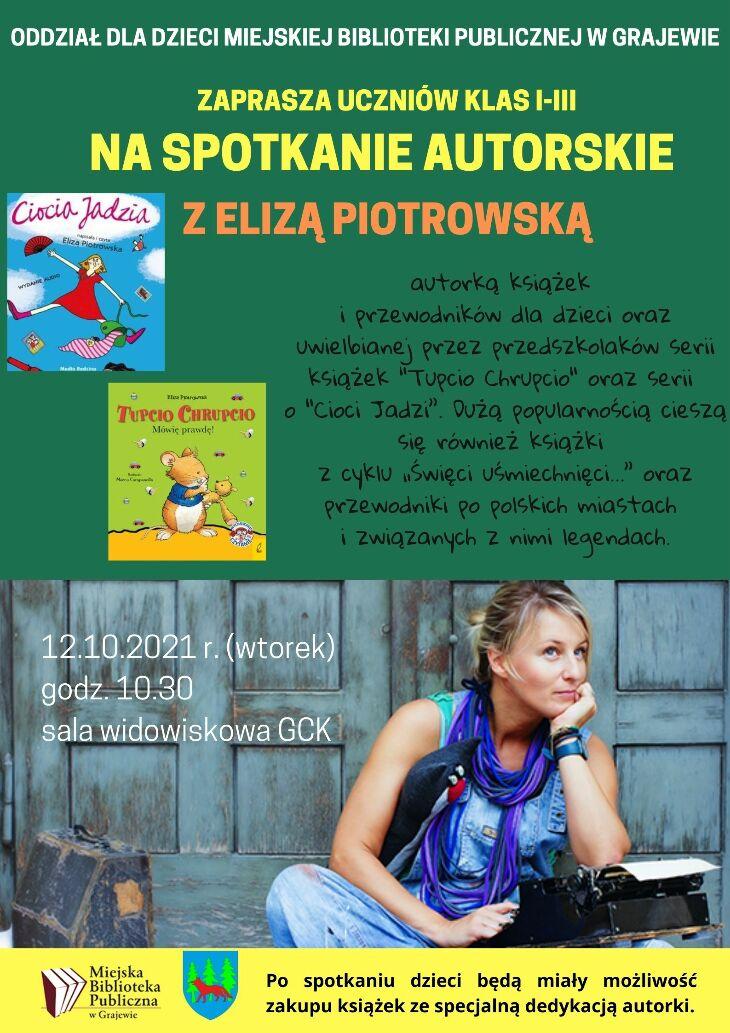 Spotkanie autorskie z pisarką Elizą Piotrowską