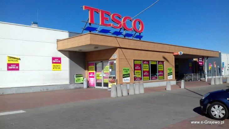 Likwidacja Tesco. Market funkcjonował w Grajewie 10 lat