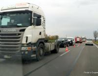 Kolizja samochodów na wyjeździe z Grajewa - DK61