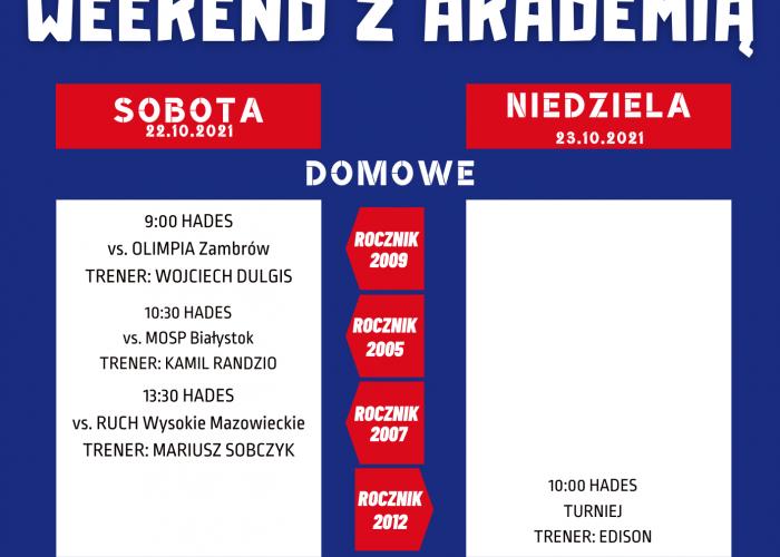 Akademia Piłkarska Warmia MOSiR Grajewo (23-24.10)